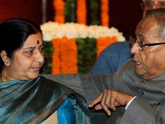Finance Minister Pranab Mukherjee,BJP,Sushma Swaraj