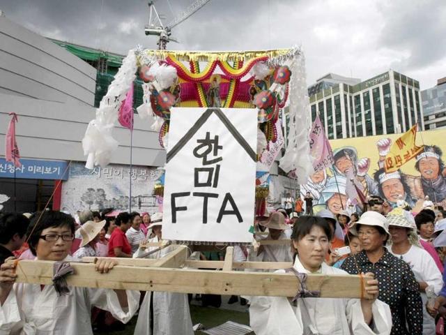 South Korea,China,free trade deal