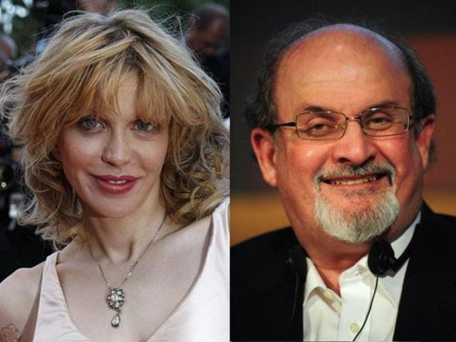 American-singer-Courtney-Love-and-Indian-British-novelist-Salman-Rushdie