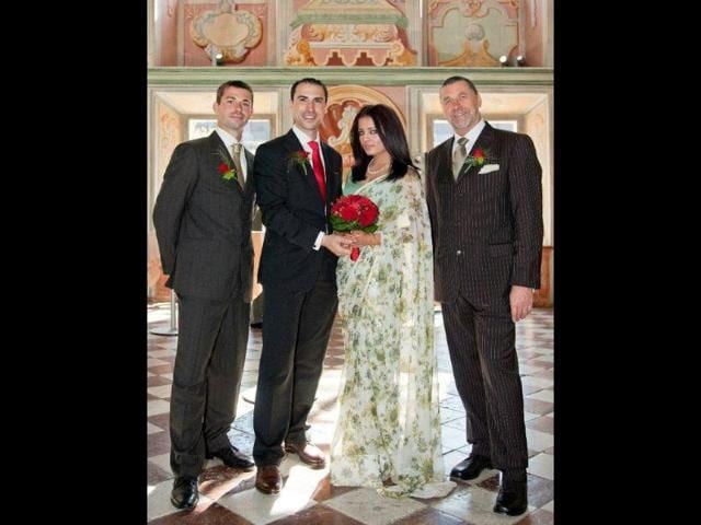 Celina-Jaitly-marries-Peter-Haag-Here-is-a-picture-of-the-most-cherished-moment-of-our-lives-The-following-picture-features-myself-and-my-beloved-husband-flanked-by-my-dearest-father-in-law-to-my-left-and-my-brother-in-law-to-Peter-s-right