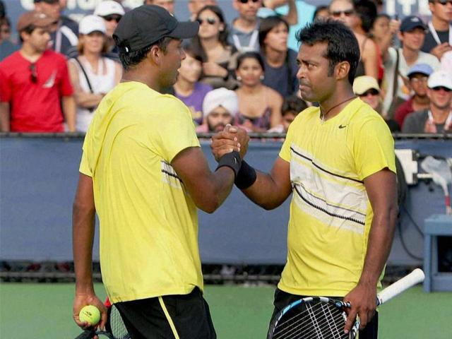 Leander-Paes-and-Mahesh-Bhupati-during-the-Men-s-Doubles-tournament-at-Flushing-Meadows-in-New-York