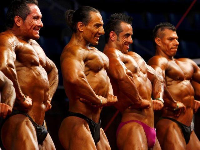 Strongmen,cavemen,athletes