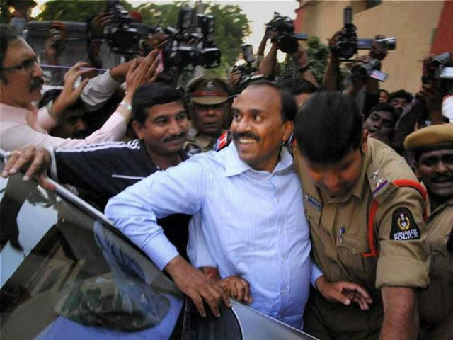 Former-Karnataka-minister-G-Janardhan-Reddy-is-brought-to-the-CBI-office-after-he-was-arrested-in-Hyderabad