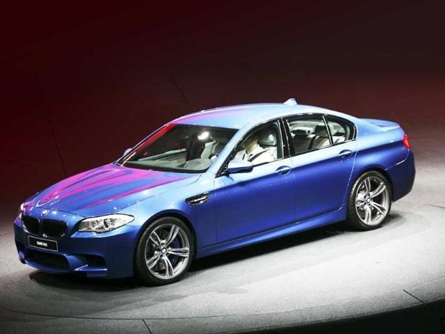 German luxury carmaker BMW presents the company's new M5 series during the International Motor Show (IAA) in Frankfurt.