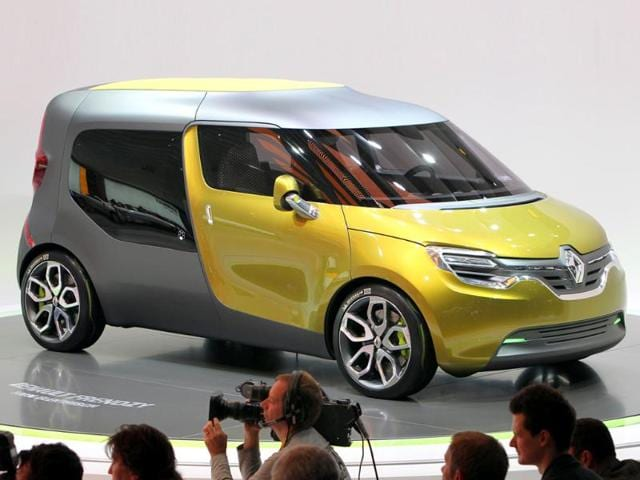 A Renault Frendzy electric car is displayed at the international car show IAA (Internationale Automobil-Ausstellung) press day in Frankfurt.