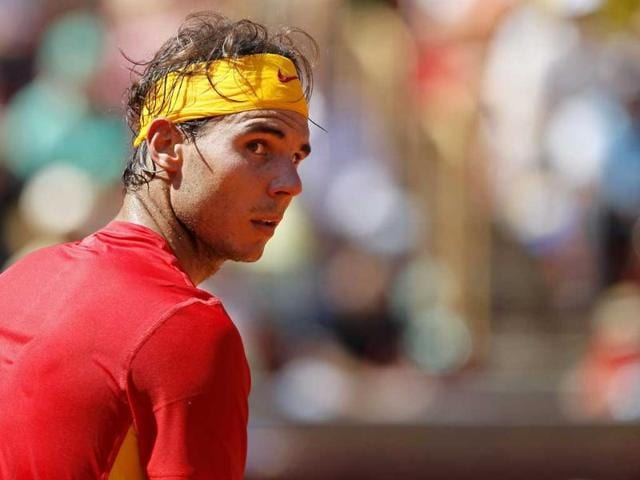 Rafael-Nadal-reacts-during-the-first-match-of-the-Davis-Cup-semifinal-at-Los-Califas-bullring-in-Cordoba-southern-Spain