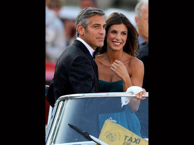 George-Clooney-and-Amal-Alamuddin-at-their-engagement-party-HT-Photo