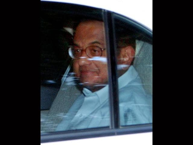 Union-home-minister-P-Chidambaram-leaves-from-10-Janpath-after-a-meeting-with-Congress-President-Sonia-Gandhi-in-New-Delhi-on-Monday