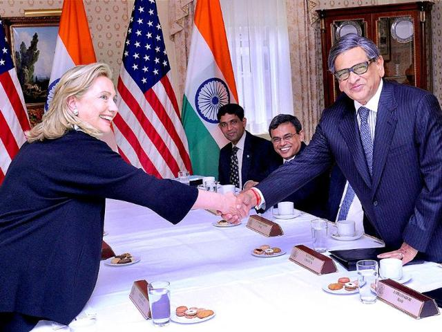 SM Krishna,hillary clinton,bilateral meeting