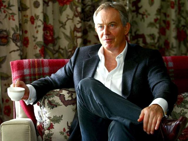 Former-British-Prime-Minister-Tony-Blair-during-his-visit-to-the-British-high-commissioner-s-residence-in-New-Delhi