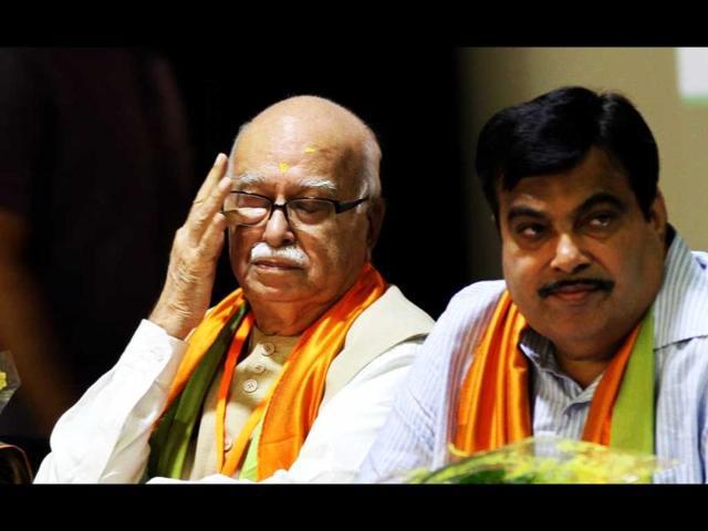 LK Advani,Nitin Gadkari,Narendra Modi