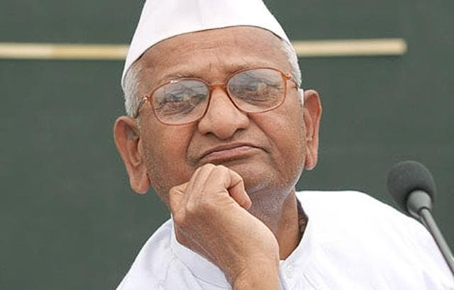 Social activist Anna Hazare on Saturday received an anonymous threat letter. (Photo credit: @ANI_news)