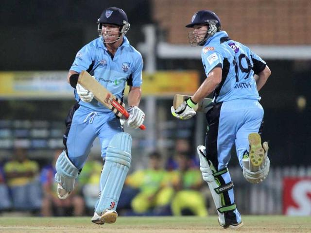 South-Wales-Blues-batsman-David-Warner-and-Steven-Smith-in-action-against-Chennai-Super-Kings-during-the-Champions-League-at-M-A-Chidambaram-Stadium-in-Chennai