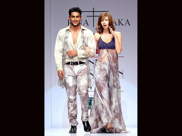 Kalki Koechlin,Prateik,Wills Lifestyle India Fashion Week Spring Summer
