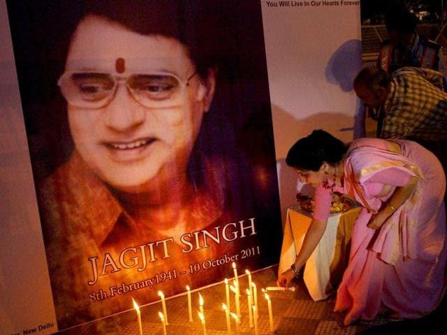 Jagjit Singh,Gulzar,ghazal singers Bhupinder Singh