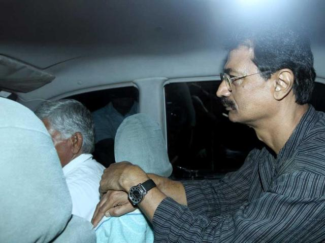 Former-Indian-Police-Services-officer-RK-Sharma-is-released-from-Tihar-Jail-in-New-Delhi