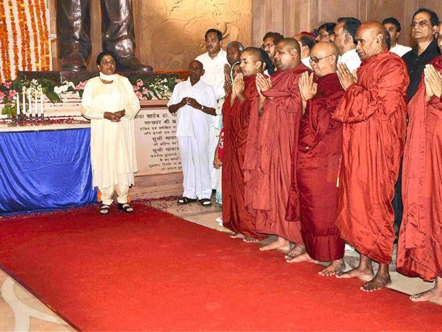Uttar-Pradesh-chief-minister-Mayawati-during-the-inauguration-of-Rashtriya-Dalit-Prerna-Sthal-Ambedkar-Park-in-Noida-Photo-PTI