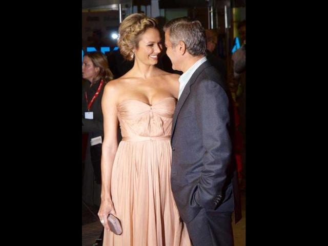 George-Clooney-R-poses-with-Stacy-Keibler-at-the-23rd-Annual-Palm-Springs-International-Film-Festival-Gala-in-Palm-Springs-California-Reuters-Alex-Gallardo
