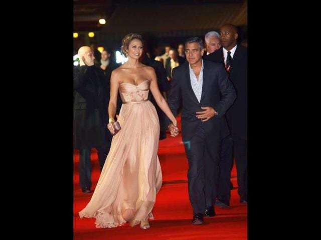 George Clooney,Stacy Keibler,Barack Obama