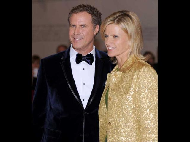 Comedian-and-actor-Will-Ferrell-L-and-his-wife-Viveca-Paulin-pose-for-photographers-on-the-red-carpet-as-they-arrive-at-the-Kennedy-Center-where-he-will-be-honoured-with-the-14th-Annual-Mark-Twain-Prize-for-American-Humour-in-Washington