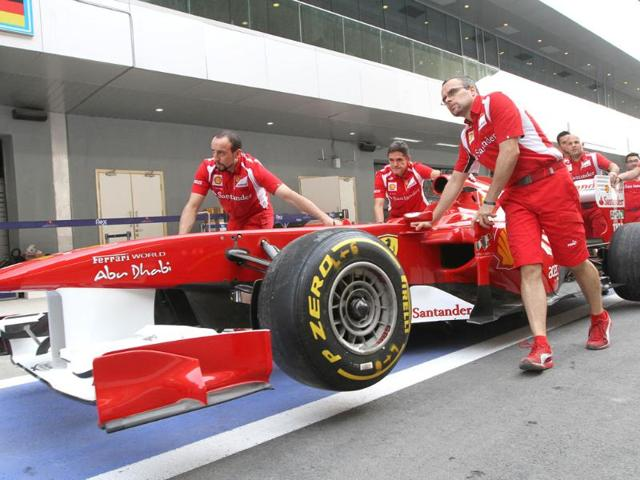 Indian Grand Prix first free practice times,Buddh International Circuit,Formula One Indian Grand Prix