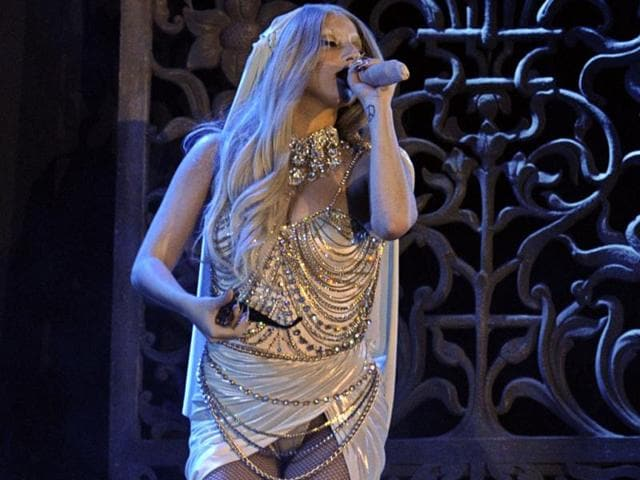 The-sensational-Lady-Gaga-turned-heads-with-her-mic-during-her-performance-in-India