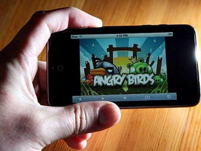An-image-of-the-popular-video-game-Angry-Birds-is-displayed-on-an-iPod-Touch-AFP