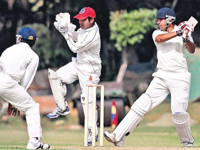 Haryana-s-Sunny-Singh-in-action-at-the-Ranji-Trophy-match-against-Delhi-on-Thursday--Sanjeev-Verma-HT