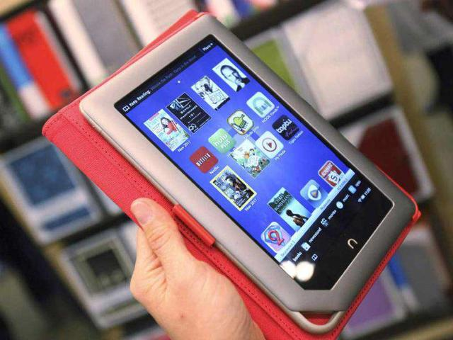 The-new-Nook-Tablet-is-seen-during-a-demonstration-at-the-Union-Square-Barnes-amp-Noble-in-New-York-Reuters-Shannon-Stapleton