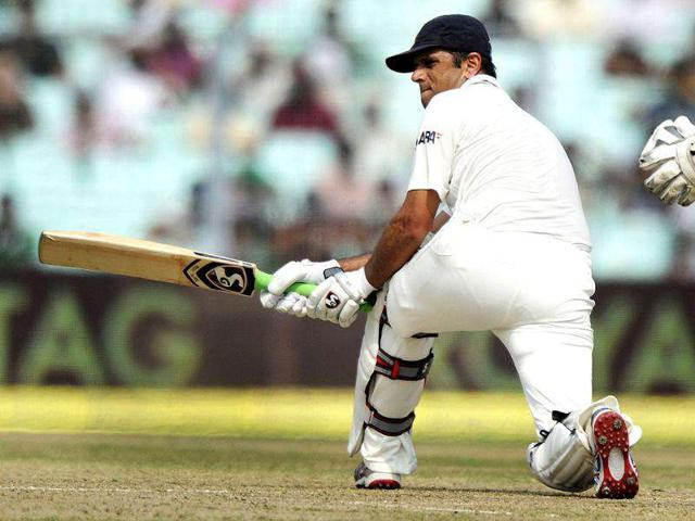 Rahul-Dravid-plays-a-shot-during-the-first-day-of-the-second-Test-cricket-match-between-Indian-and-West-Indies-at-The-Eden-Gardens-in-Kolkata