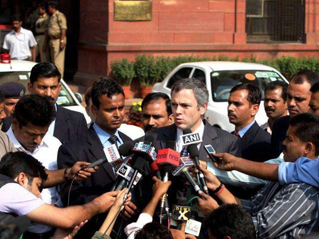 Jammu-and-Kashmir-chief-minister-Omar-Abdullah-talks-to-newsmen-after-meeting-home-minister-P-Chidambaram-in-New-Delhi-PTI-Atul-Yadav