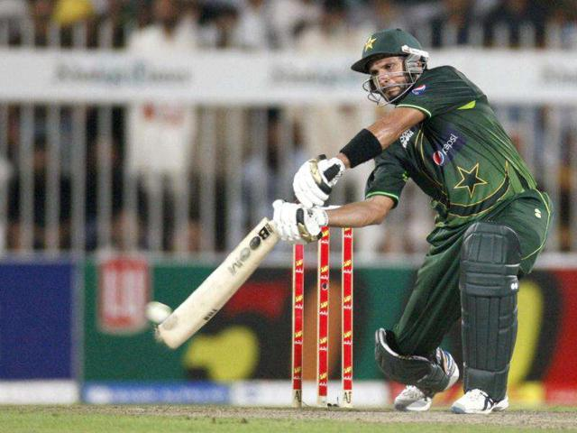 Pakistan-s-Shahid-Afridi-plays-a-shot-during-their-fourth-one-day-international-cricket-match-against-Sri-Lanka-in-Sharjah