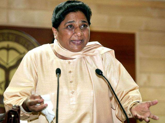 Uttar-Pradesh-chief-minister-Mayawati-addressing-a-press-conference-after-assembly-session-was-adjourned-sine-die-in-Lucknow-PTI-Photo-by-Nand-Kumar