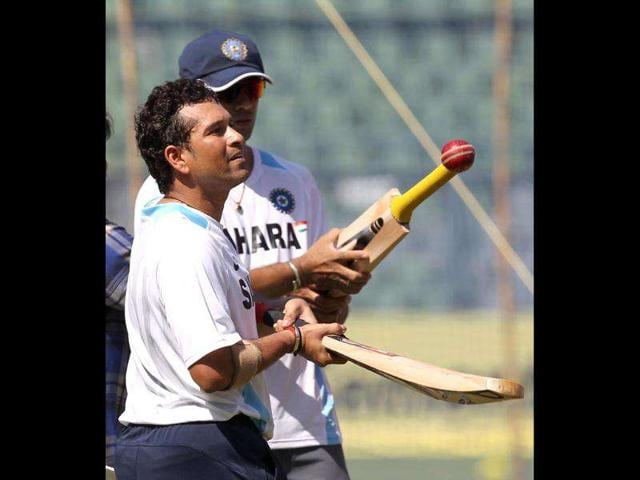Cricketers-Sachin-Tendulkar-and-Rahul-Dravid-during-a-practice-session-on-the-eve-of-the-third-Test-match-against-West-Indies-at-Wankhede-stadium-in-Mumbai-HT-Photo-by-Santosh-Harhare