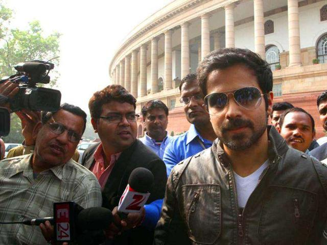 Emraan promotes Dirty Picture at Parliament