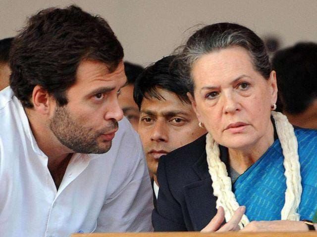 Congress-leaders-Sonia-Gandhi-and-Rahul-at-a-party-function-in-Delhi
