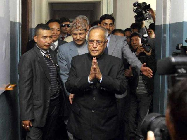 Finance-minister-Pranab-Mukherjee-greets-as-he-arrives-for-a-meeting-at-the-ministry-of-finance-in-Kathmandu-Reuters-Navesh-Chitrakar