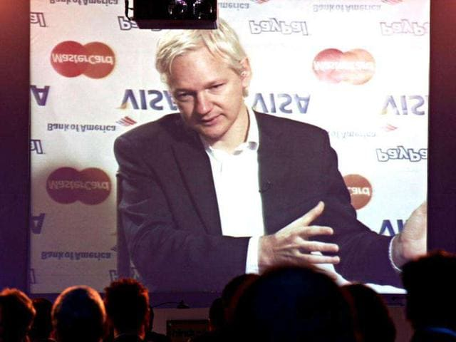 WikiLeaks-founder-Julian-Assange-is-seen-during-a-video-conference-at-the-HT-Leadership-Summit-2011-in-New-Delhi-HT-Jasjeet-Plaha