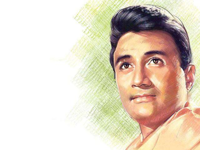 Known as the original romantic hero with 'Gregory Peck' inspired puffed hairstyle, Dev Anand ruled the Indian film industry in the 50s and 60s along with Dilip Kumar, Raj Kapoor – popularly known as the super star trio. (Photo illustration: Shrikrishna Patkar/HT)