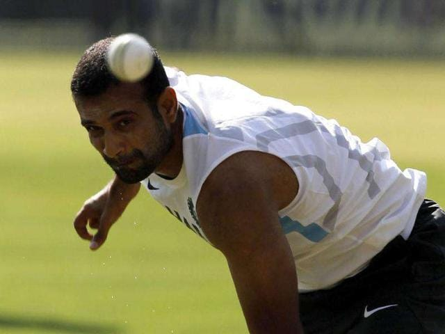Comeback-player-Irfan-Pathan-bowls-during-the-team-practice-session-prior-to-the-4th-ODI-at-Holkar-stadium-in-Indore-HT-Photo-Santosh-Harhare