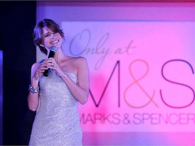 Kalki walked the ramp for Marks & Spencers.