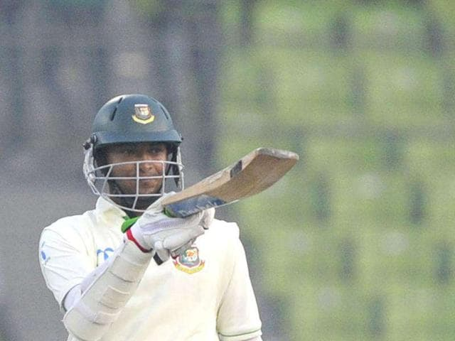Bangladeshi-batsman-Shakib-Al-Hasan-acknowledges-the-crowd-after-scoring-a-century-100-runs-during-the-first-day-of-the-second-cricket-Test-match-between-Bangladesh-and-Pakistan-at-the-Sher-e-Bangla-National-Cricket-Stadium-in-Dhaka-AFP-Photo-Munir-uz-Zaman