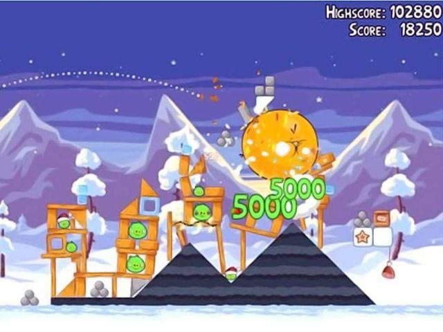 Angry Birds,Doodle Jump,Christmas trees
