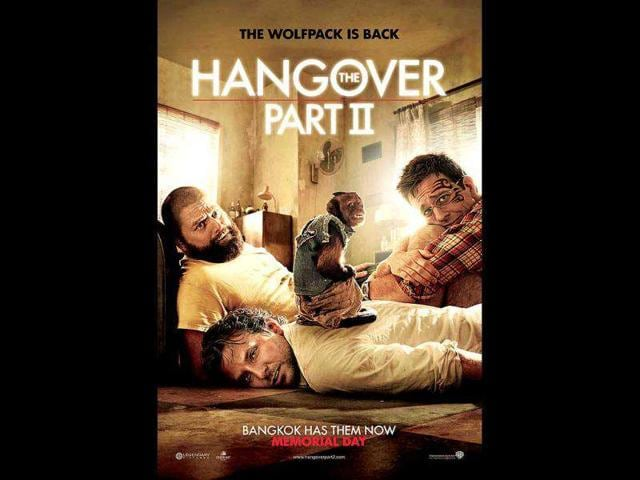 The-Hangover-II-Worldwide-box-office-581-4-millionIn-this-comedy-sequel-Bradley-Cooper-and-Zach-Galifianakis-attend-another-bachelor-party-this-time-in-Thailand-for-Stu-s-wedding-but-things-go-seriously-wrong-again