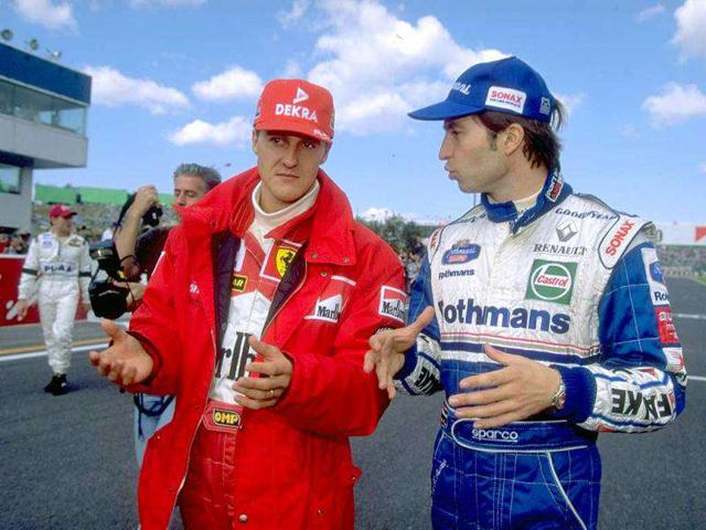 Michael-Schumacher-L-and-Heinz-Harald-Frentzen-at-the-1997-Japanese-GP-Getty-Photo