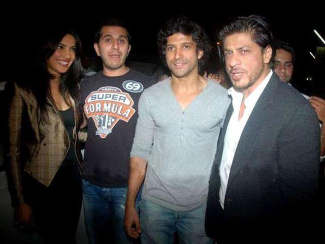 The-pillars-of-Don-2-L-R-Female-lead-Priyanka-Chopra-producer-Ritesh-Sidhwani-director-Farhan-Akhtar-protagonist-Shah-Rukh-Khan