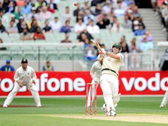Australian-batsman-David-Warner-hooks-a-ball-away-on-the-first-day-of-their-first-Test-match-against-India-at-the-Melbourne-Cricket-Ground-MCG-in-Melbourne-AFP-Photo