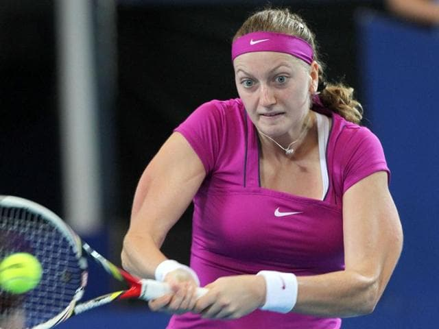 Petra-Kvitova-of-the-Czech-Republic-hits-a-return-against-Tsvetana-Pironkova-of-Bulgaria-during-their-women-s-singles-session-3-match-on-day-three-of-the-Hopman-Cup-Tennis-Tournament-in-Perth-AFP-Tony-Ashby