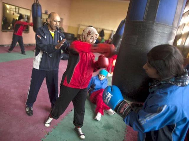Shabnam Rahimi,Sadaf Rahimi,afghan women boxing