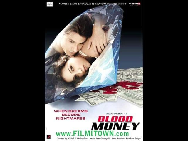 Blood-Money-is-an-upcoming-Bollywood-erotic-thriller-directed-by-Vishal-Mahadkar-and-produced-by-Mahesh-Bhatt-The-film-stars-Kunal-Khemu-opposite-Amrita-Puri-in-lead-roles-It-is-scheduled-for-release-on-March-23-2012